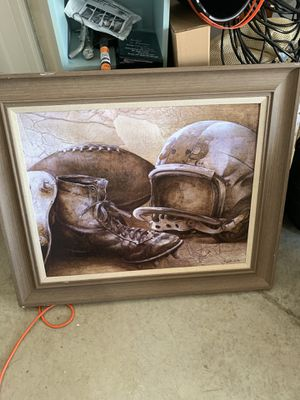 Big football picture for Sale in Fuquay-Varina, NC