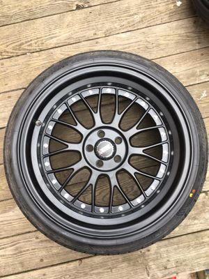 Rims and tires 225 40 R18 (5x100) for Sale in Jackson, NJ