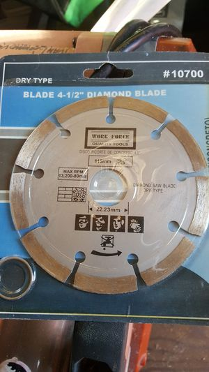 Diamond saw blade dry type.4 1/2 inch. for Sale in Spartanburg, SC