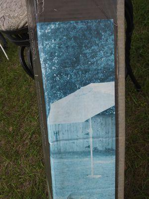 Designer Miami name-brand 7.5 foot outdoor umbrella perfect for the backyard or pool brand new in box for Sale in Orlando, FL