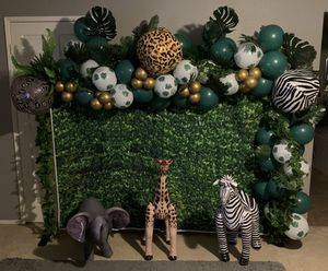 Jungle theme balloon garland for Sale in Lake Elsinore, CA