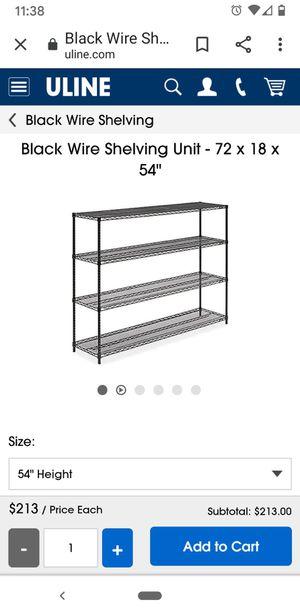 ULINE shelf 72x24x55 for Sale in Sunnyvale, CA