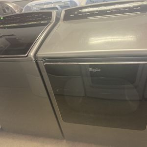 Whirlpool Cabrio Gray Washer&Dryer Set for Sale in San Antonio, TX