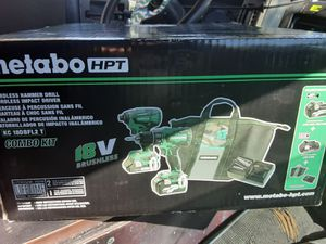 Metabo drill combo set with 2x extra 5ah 36v-18v batteries for Sale in Tacoma, WA