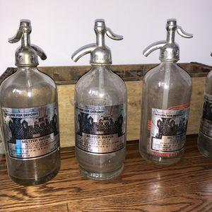 $25 each - Vintage Seltzer Bottles for Sale in New York, NY