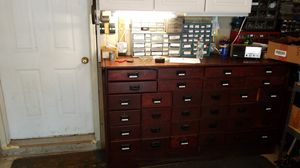Antique- 32 Drawer Apothecary/Printers cabinet for Sale in Jackson Township, NJ