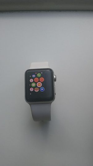 Apple Watch Series 2 Smartwatch 38mm Silver Aluminum Case White Sport Band for Sale in Boston, MA