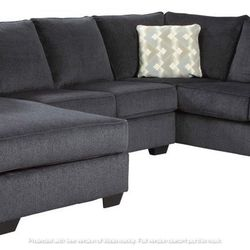 NEW, U SHAPPED, LAF CORNER CHAISE SECTIONAL, SLATE COLOR. for Sale in Montclair,  CA
