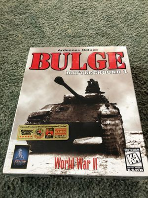 Battleground Ardennes Battle of the blue G Battle of the bulge pc game from 1996 for Sale in Lock Haven, PA