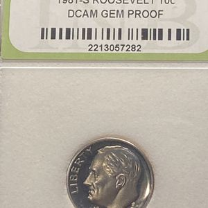 1981-S Type II ROOSEVELT DIME DCAM GEM PROOF for Sale in Plainfield, IL