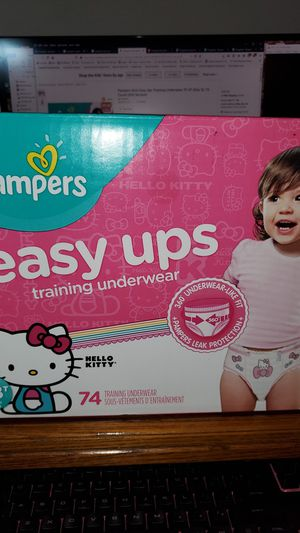 Pampers girls Easy Ups training underwear size 2T 3T 74 pack Hello Kitty for Sale in San Diego, CA