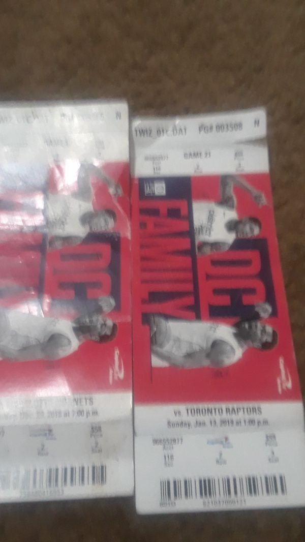Washington Wizards tickets capitol one arena games vs LA Lakers..Chicago Bulls..milwaukee bucks..Toronto Raptors..Hornets..Nuggetts...and Boston