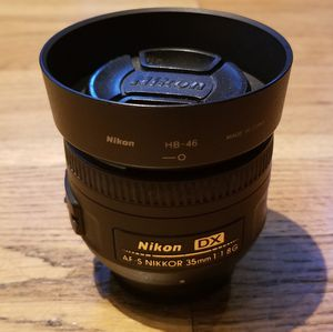 Nikon DX 35mm f/1.8 Prime Camera F Mount Lens for Sale in Gaithersburg, MD