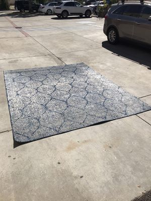 Blue and White Area Rug (8'x10') for Sale in Santa Monica, CA