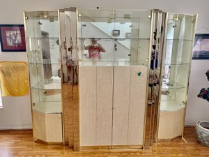 GORGEOUS GLASS CHINA CABINET / ENTERTAINMENT CENTER LIVING / DINING ROOM for Sale in Celebration, FL