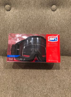 100% youth accuri Jr. dirt bike goggles for Sale in Maynard, MA