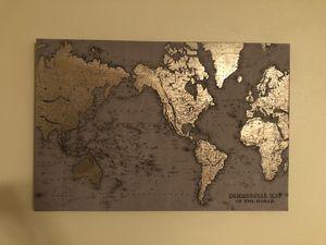 World Map Canvas for Sale in Redondo Beach, CA