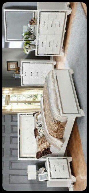 🆕SET🆕 Bianca White Bedroom Set