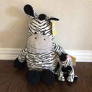 Stuffed animal zebras - new with tags! for Sale in Roanoke, TX