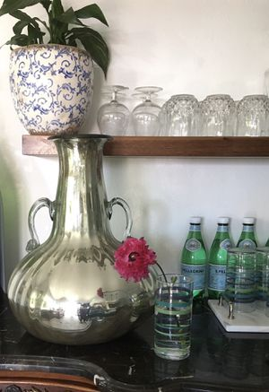 Mercury glass vase. Shabby chic for Sale in San Diego, CA