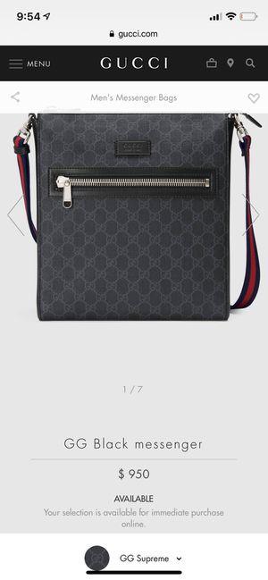 New Gucci Black messenger bag for Sale in Glendale, AZ