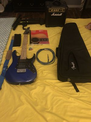 Fender, Ibanez, Marshall (IBANEZ GUITAR IS FOR A CHILD) for Sale in Zephyrhills, FL