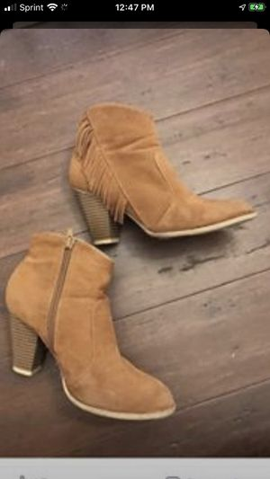 Short Suede Boots Size 7 for Sale in Malden, MA