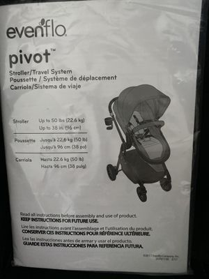 Evenflo Pivot travel system for Sale in Port St. Lucie, FL