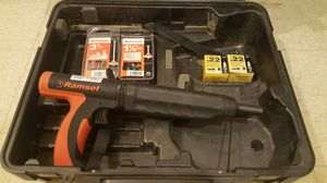 Like new Ramset Nail gun + Shots + Nails. for Sale in Cambridge, MA