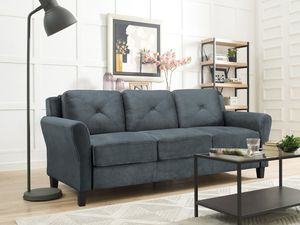 Lifestyle Solutions rolled arm couch Grey for Sale in Riverside, CA