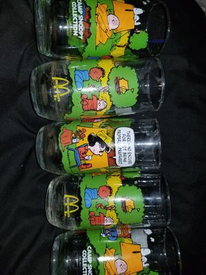Camp snoopy collection glasses for Sale in Los Angeles, CA