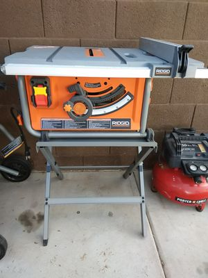 "RIDGID 10"" TABLE SAW WITH STAND for Sale in Glendale, AZ"