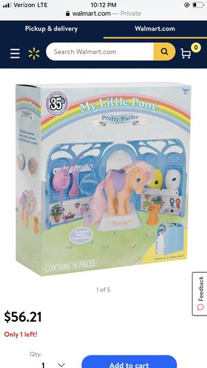 NIB My Little Pony Classic - 35th Anniversary Pretty Parlor Playset — includes Peachy (!) for Sale in Charlotte, NC