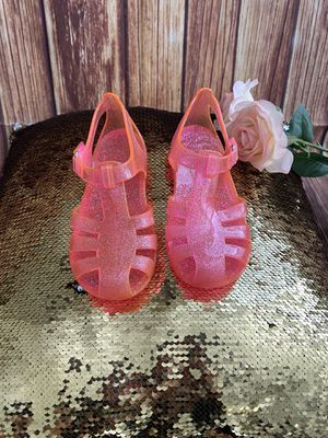 Carter's Toddlers Girls Pink Jelly Shimmer Sandals Shoes Sz 10 for Sale in Las Vegas, NV