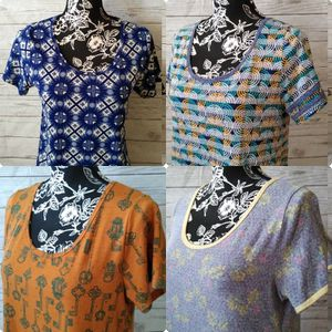 4 Beautiful LulaRoe Shirts , excellent condition ( sizes XS , M & S ) price for all ... for Sale in Frederick, MD