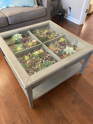 Succulent coffee table for Sale in Nashville, TN