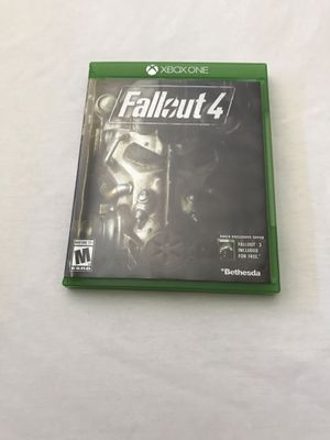 Xbox One Game: Fallout 4 Disc Like New for Sale in Reedley, CA