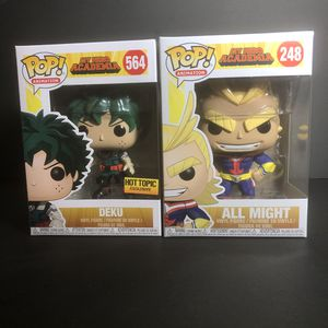 Deku and All Might My Herro Academia Funko Pops for Sale in Los Angeles, CA