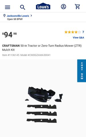 "Craftsman 50"" Mulching kit for Sale in Jacksonville, NC"
