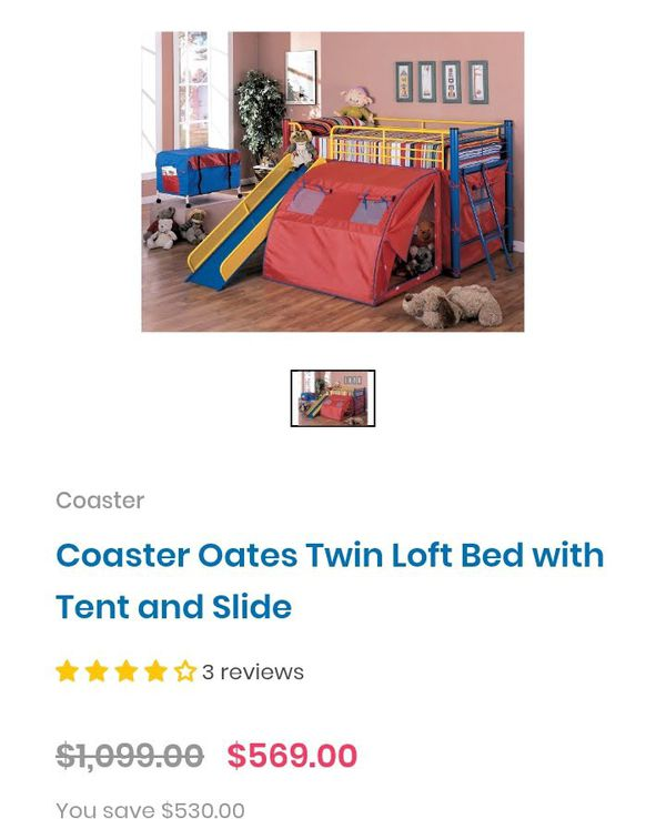 Coaster Bunk Bed with Slide Colorful
