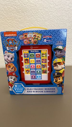Electronic Reader and 8-Book Library Paw Patrol for Sale in Tucson, AZ