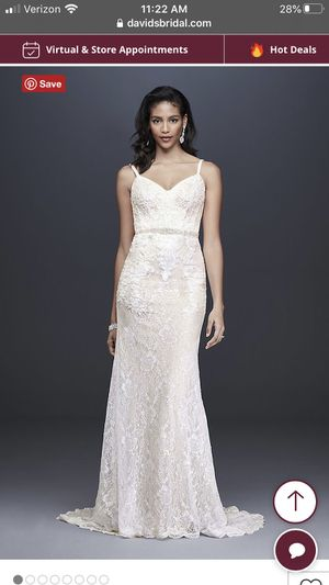 NEW Galina Signature lace gown size 8 for Sale in Fremont, CA