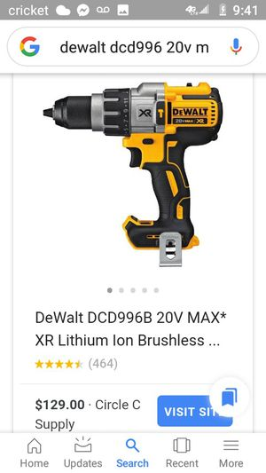 DeWalt impact drill 20v lithium ion battery for Sale in Eugene, OR