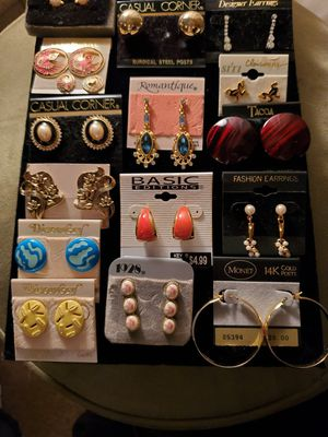 Lots of New Beautiful Pierced Earrings All for 25.00 for Sale in Virginia Beach, VA