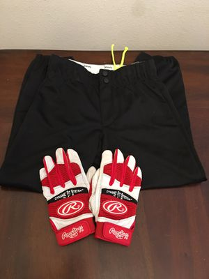 Batting gloves and black softball pants for Sale in Spring, TX