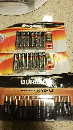 AAA Duracell and Energized Batteries for Sale in Rockville, MD
