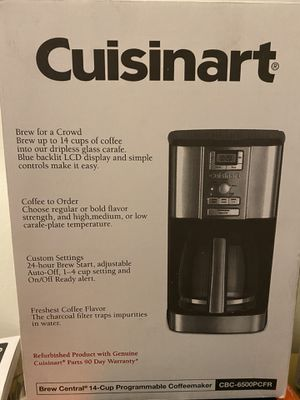 Cuisinart 14 Cup Brew Central 24 Hour Programmable Drip Coffee Maker with Glass Carafe for Sale in Bakersfield, CA
