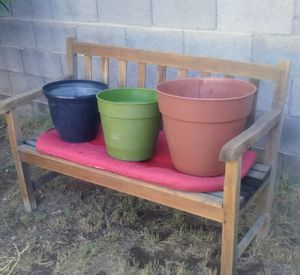3 larger sized plastic planting pots for Sale in Phoenix, AZ