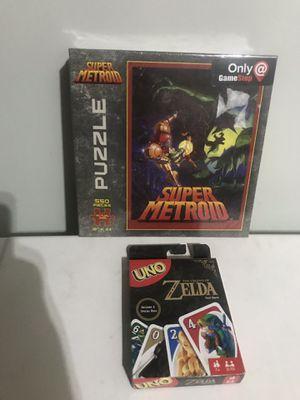 Super Metroid puzzle/ Zelda Uno for Sale in Perris, CA