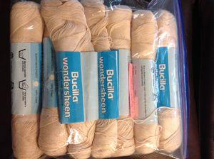 6+ Skeins vintage Bucilla wondersheen cotton yarn ecru 2340 Yards! for Sale in Poulsbo, WA